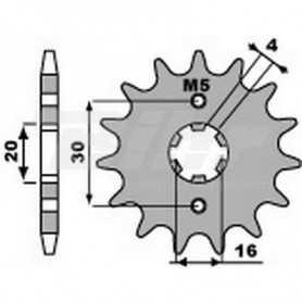 (491435) Piñon PBR 14 dientes cadena paso 428 Yamaha YBR125