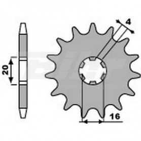 (491488) Piñon PBR 15 dientes cadena paso 428 Yamaha DT125MX
