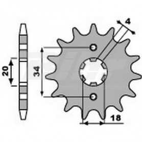 (491720) Piñon PBR 13 dientes para cadena paso 520 Honda XLR200
