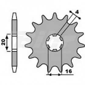 (491758) Piñon PBR 13 dientes para cadena paso 420 Kawasaki KX60/65