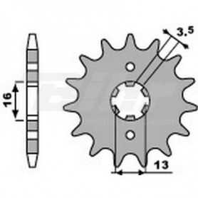(491761) Piñon PBR 13 dientes para cadena paso 420 Suzuki JR50