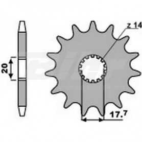 (491767) Piñon PBR 14 dientes cadena paso 428 Yamaha YZ85