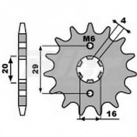 (492196) Piñon PBR 14 dientes cadena paso 428 Suzuki TSR125R