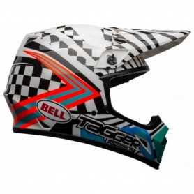 (585885) CASCO BELL MX-9 MIPS CHECK ME OUT BLANCO-NEGRO TALLA S